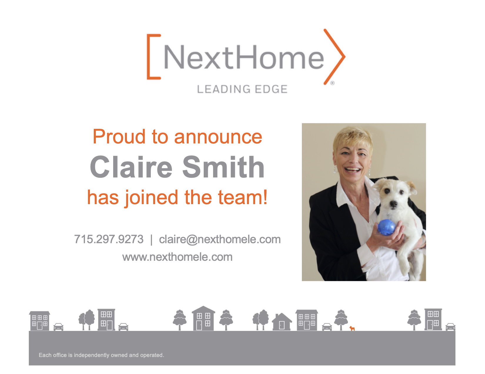 Welcome Claire Smith!